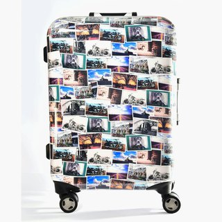 Free travel wind - hand-printed fashion aluminum frame 20 吋 suitcase / suitcase