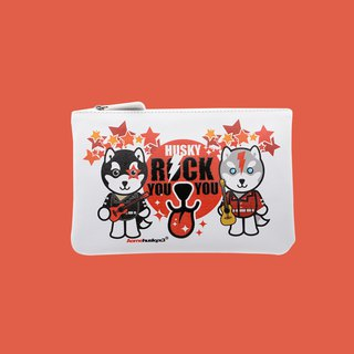 Sigema X Husky x 3 Zip Pouch Rock You Pouch Pencil wildcard pack cosmetic was small package Clutch