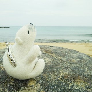 Wool felt animal mouth gold marine series - polar bear made in Taiwan limited edition manual