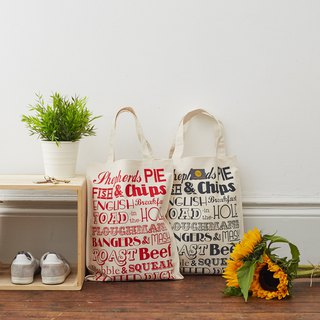British Egg Cotton Canvas Bag England Dinner