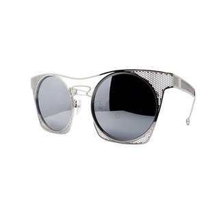 【ZALES】 Sunglasses combination of 1-silver white Cobwed-1 silver sunglasses