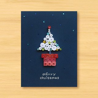 Hand-rolled stereo card _ Christmas wishes small pot merry christmas_A