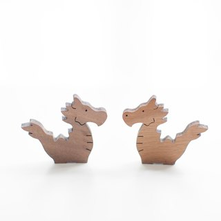 Customized Name Gifts Wood Dark Shape Wood - Happy Dragon
