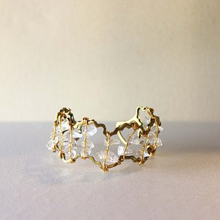 Crystal and Brass Bangle