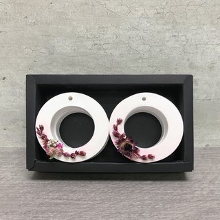 Flower and fragrant stone combination - can be hung