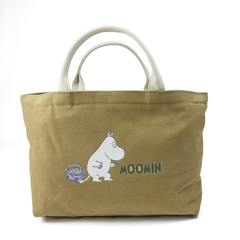 Moomin 噜噜米 authorized - Japanese small tote bag (Kaki), AE03