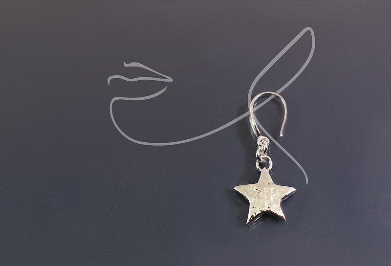 Starfish / Star 925 Silver Single Earrings
