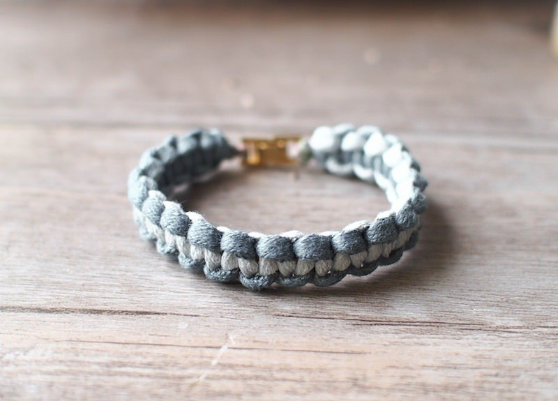 LIULIUYA [warm ocean] 3MM rough paragraph dyed braided bracelet