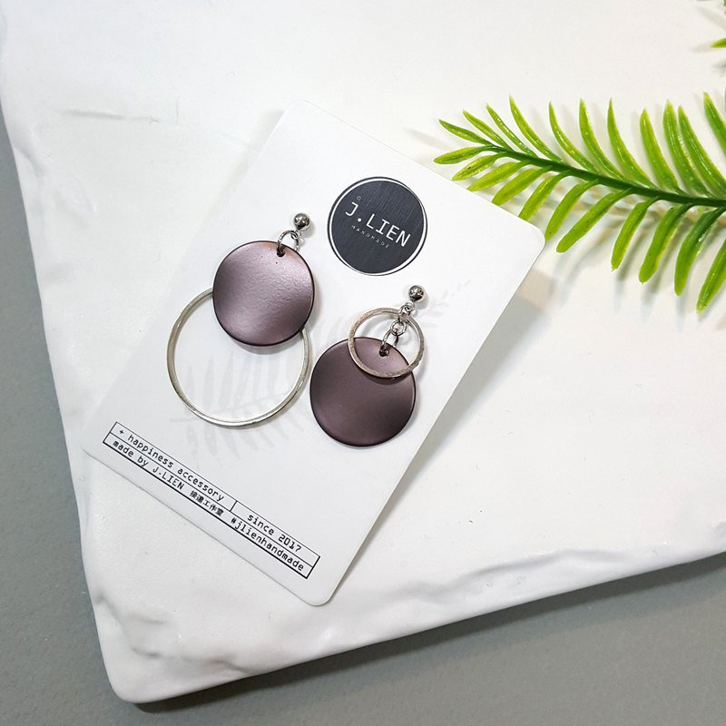 Circle Game Circle Game - Metal Gloss Series - Silver Grey Ear Pin Earrings Earrings Korea Direct