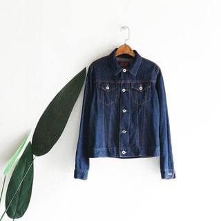 Miyazaki indigo classic plain antique cotton denim shirt jacket oversize vintage