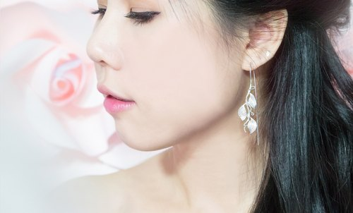 Rosy Leaves Earrings