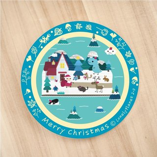 [Lonely Planet 2.0] ceramic water coaster - Animal Christmas Island - to help pack gifts