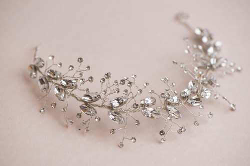 Swarovski Elements crystal headband  bridal headpiece