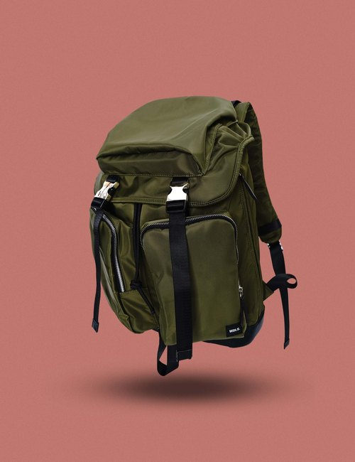 Elite Buckles Travel Backpack (Army Green)