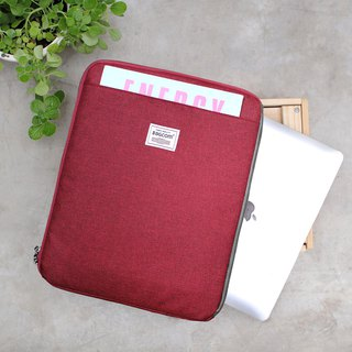 Multi-layered easy to use bag (13.5 notebook OK) hemp red _100443