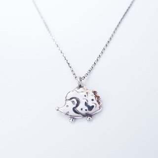 Hedgehog 925 silver necklace / Hedgehog NK