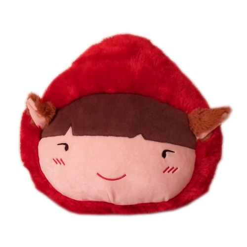 BEAR BOY [QQ] super soft head-shaped pillow Little Red Riding Hood