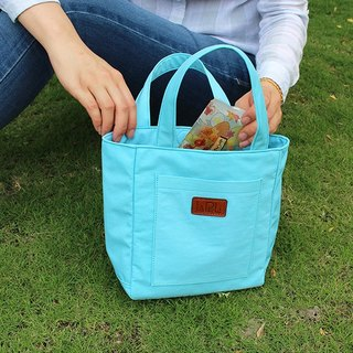 LAPELI │ nylon bag / mother pack ocean water blue