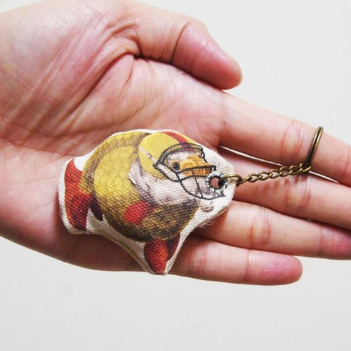 American football goldfish football gold fish strap key ring phone strap