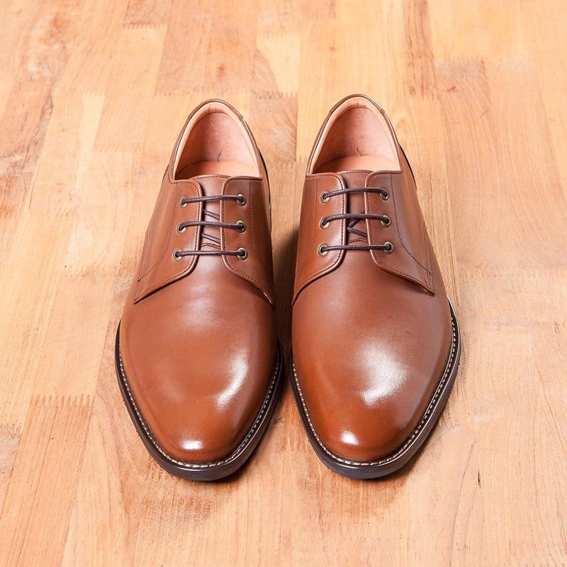 Vanger simple gentleman derby shoes Va253 brown