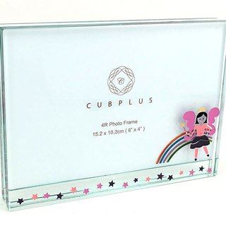 4R Crystal Glass Photo Frame -  Fairy ( including engraved names & date )