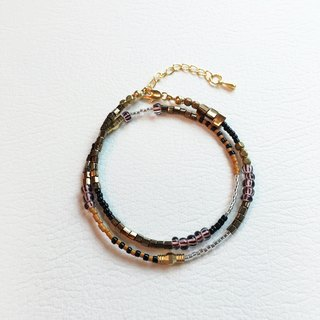 ololssim brown gold bracelet mixing