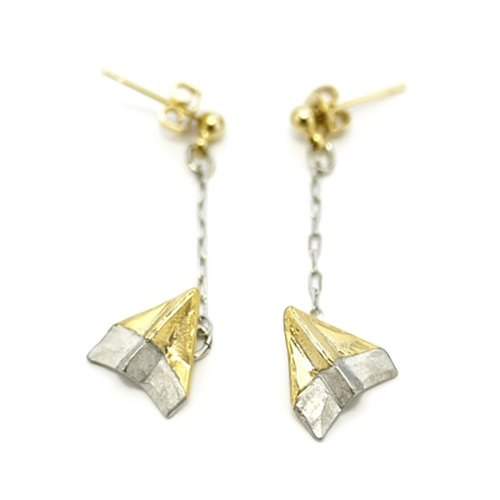 Origami Plane Earrings paper Hikoki earrings / earrings PA 323