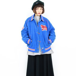 Back to Green :: Trucks Baseball Jacket Blue Corduroy Vintage vintage (C-16)