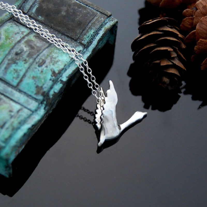 Vita Chuang exclusive order - flying geese, bloom (silver necklace)