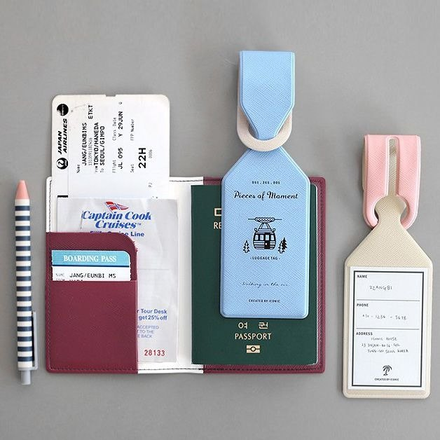 Flight Diary Baggage Tag - Powder Blue, ICO86895