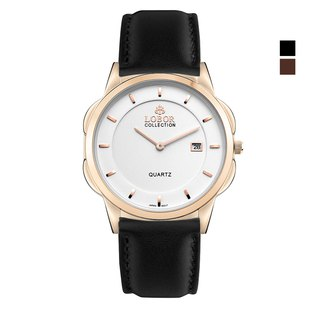 Classy S Oxford 39mm Japanese Movement Stainless Steel Polished Italian Leather Belt Hong Kong Made LOBOR Neutral Watch