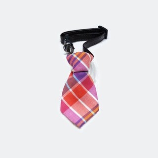 Ella Wang Design Tie Pet Tie Cat and Dog Plaid Gentleman