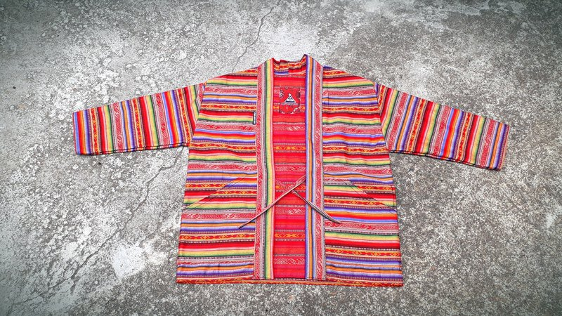 AMIN'S SHINY WORLD handmade custom European KIMONO Mexican rainbow Jacquard national coat coat coat