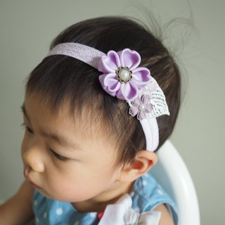 Handmade Elastic Headband with ribbon sakura