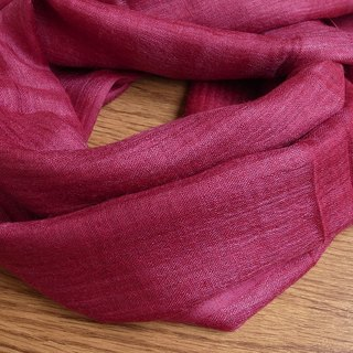 【Grooving the beats】Wild Silk Hand Woven Stole / Shawl / Scarf / Wrap(Red)