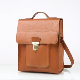 JIMMYRACING Manton Business Manager Leather Handbag Shoulder Slanting Shoulder Backpack Briefcase 148