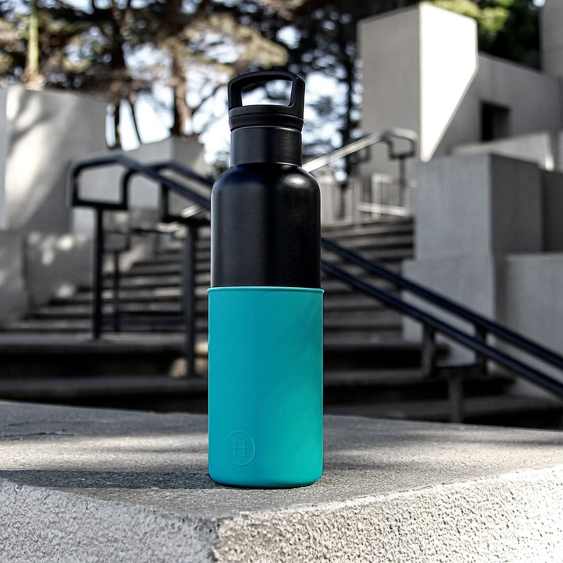 CinCin Black - Dark Cyan, 20 Oz  Steel Water Bottle
