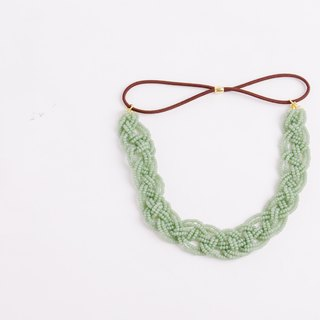 beads headband jade wide
