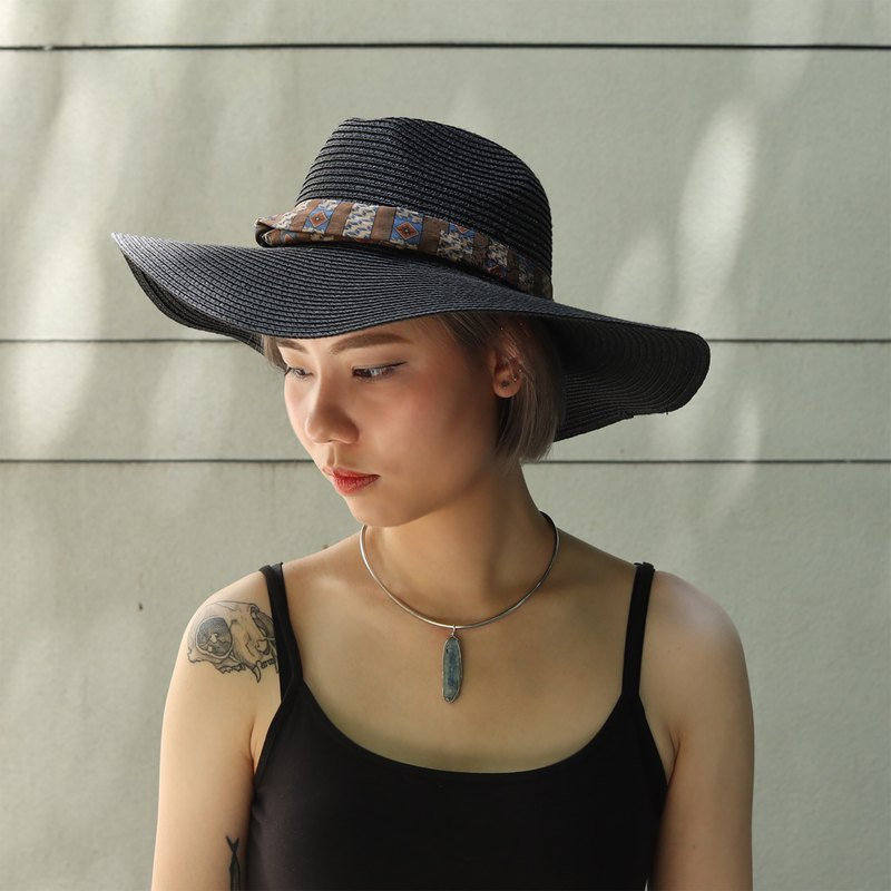 Bad Hair Club Twist Band Straw Fedora Hat
