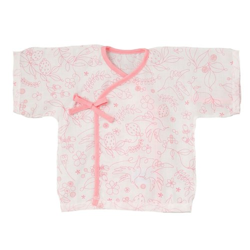 D BY DADWAY Japanese gauze cloth - pink hummingbird