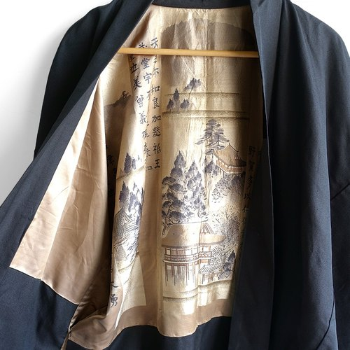 │Slowly │ Japanese antique - light kimono long version of the jacket N28 │ ancient. Vintage. Retro.