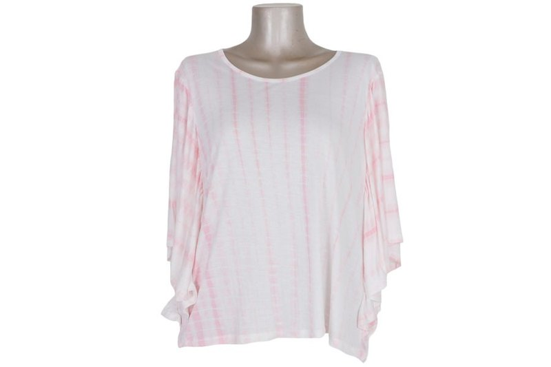 Tie Dye butterfly sleeve tops <pink>