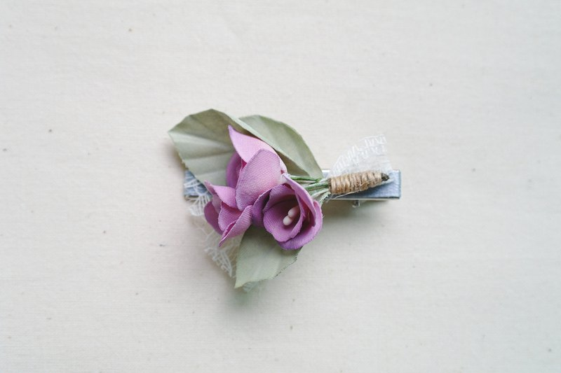 Purple Bouquet Fabric Flower Alligator Clip,gift for her, hair accessories