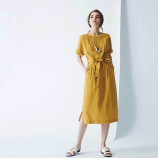 AEVEA five-point sleeves waist dress