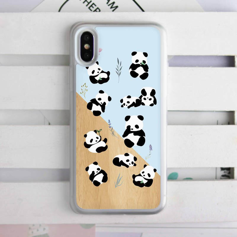 Little Panda Soft TPU Phone Case Cover for iPhone XS Max XR Samsung S9 S10 HTC