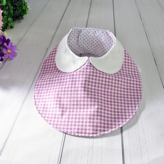 Round neck bib pocket towel can be customized