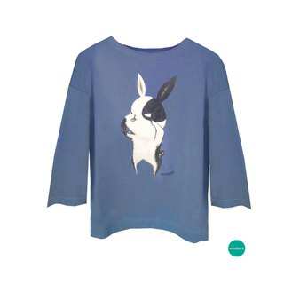 emmaAparty illustration T: Ghost face rabbit (winter short version limited edition three colors)