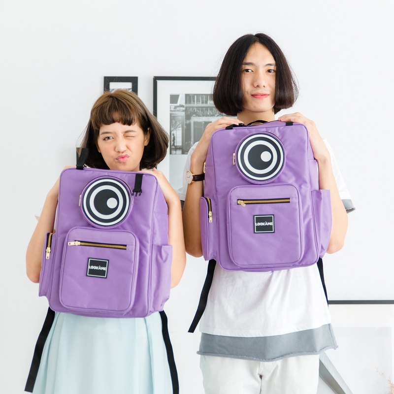 MONSTER BOX EYE BACKPACK : VIOLET