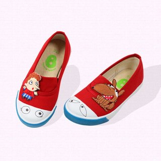 Classic simple slip-on with eyes for toddlers color Red