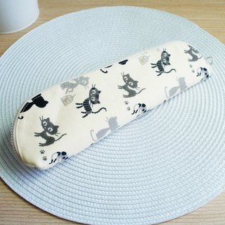 Lovely [Bird and Dragon Cat Cutlery Bag] Pencil case, rice bottom, enlarged version 23-24 cm chopsticks available